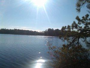 Atsion Lake in late autumn 2014.